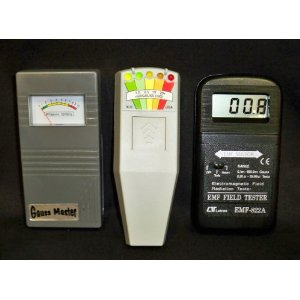 Gauss Master, K2 KII, and 822A Digital EMF Meters